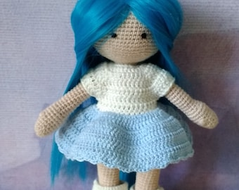 Crochet doll handmade toys knitted amigurumi