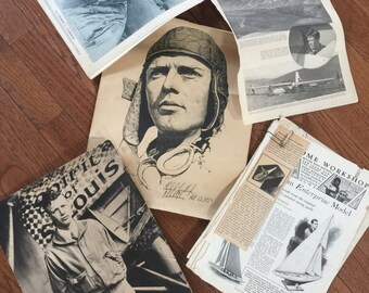 Charles A Lindbergh Collectors Lithograph and Memorabilia