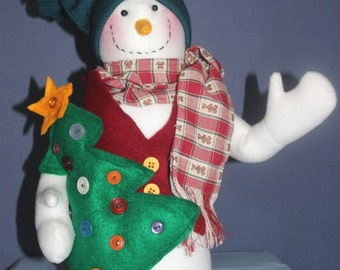 Snowman container for Winter Decoration or Gift Giving