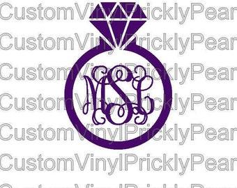 Wedding Ring Monogram
