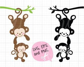monkey silhouette etsy rh etsy com Doctor Clip Art Doctor Clip Art