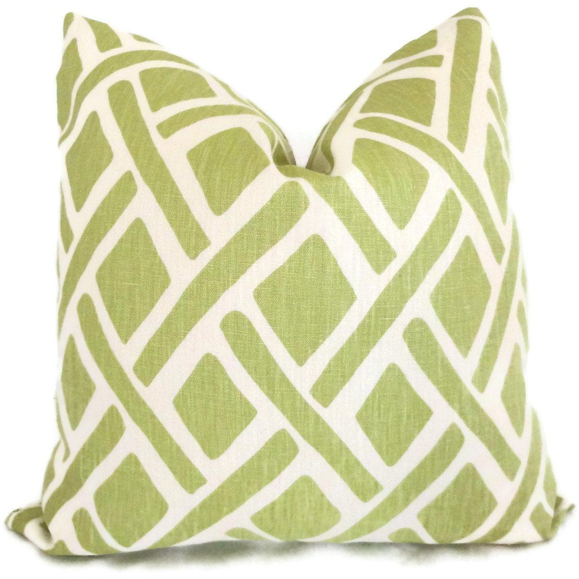 Kravet Green Trellis Decorative Pillow Cover 19x19 19x19