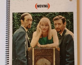 """Peter, Paul and Mary Spiral Notebook Hand Made from Recycled Vinyl Record Album Cover """"Moving"""""""