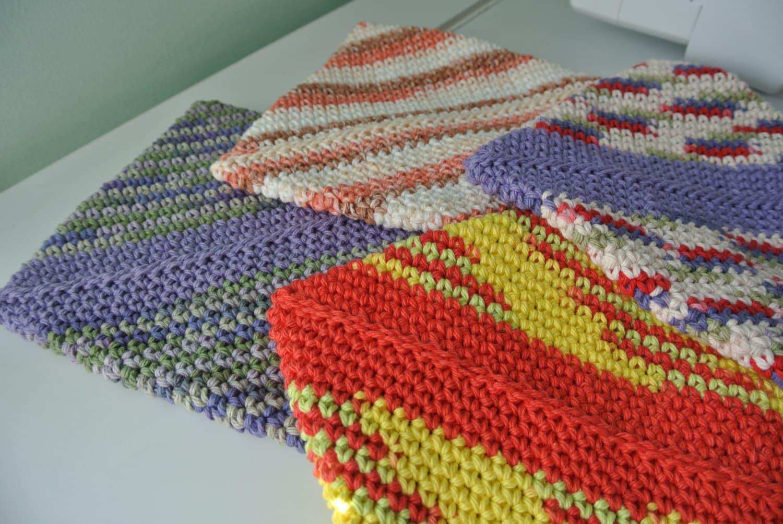 Diagonal Crochet Potholder Pattern PDF DOWNLOAD ONLY Double