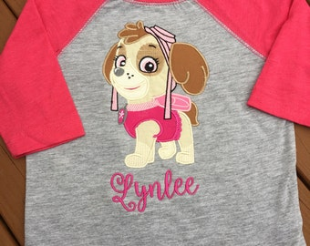 Skye Paw Patrol embroidered shirt