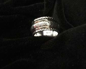 New Meditation Spinner Ring Sterling Silver 925