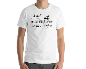 Camping t-shirt, And So The Adventure Begins T-Shirt, Travel T-shirt, camping shirt, camping t shirt, camping gift, camping gear