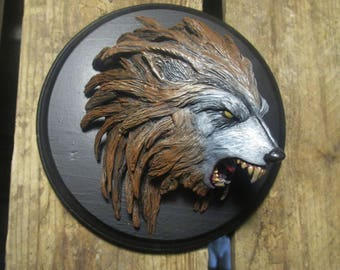 TERRITORY werewolf Kriegswolfe sculpture relief