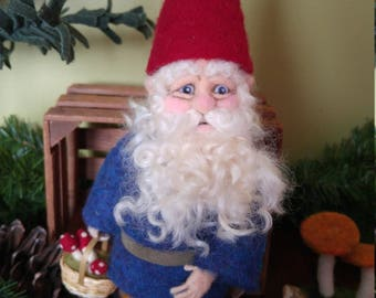 Needle Felted Gnome Art Doll