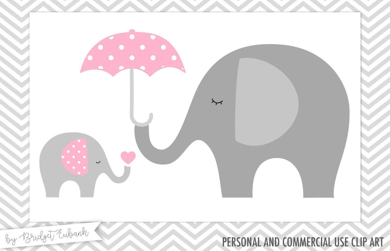 Baby shower clipart Elephant clipart Baby elephant clipart