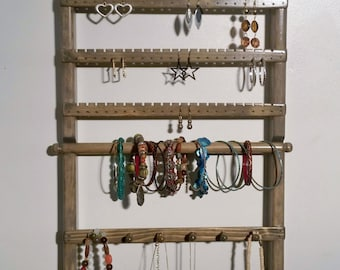Earring Holder, Jewelry Wall  Organizer, Jewelry Storage, Jewelry Holder, Necklace Holder, Jewelry Stand, Bracelet Display, Jewelry Hanger