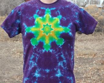Tie Dye Mandala Tee Shirt Youth Large
