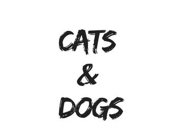 Cats & Dogs, Instant Download