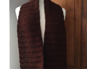 Chocolate convertible scarf and headband set