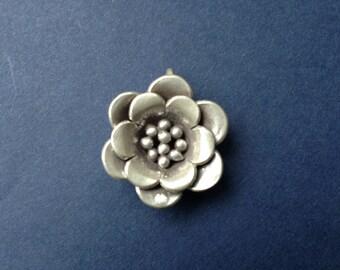 HT-20 Karen Thai Hill Tribe Silver Flower Charm or Pendant