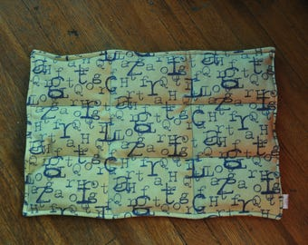 READY TO SHIP Weighted lap pad, Alphabet and Elephants, 3 lb. Perfect for schools or therapy offices.