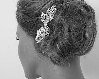 Bridal Leaf Jewel Art Deco Headpiece Hair CombHeadpiece
