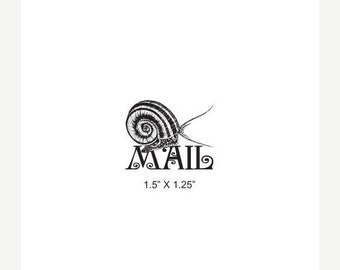 May Sale Snail Mail Rubber Stamp 390
