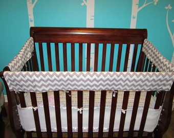 Teething Guards, Crib Rail Covers Protectors - Front side, 3 side or all 4sides **Please Include measurements in your order**