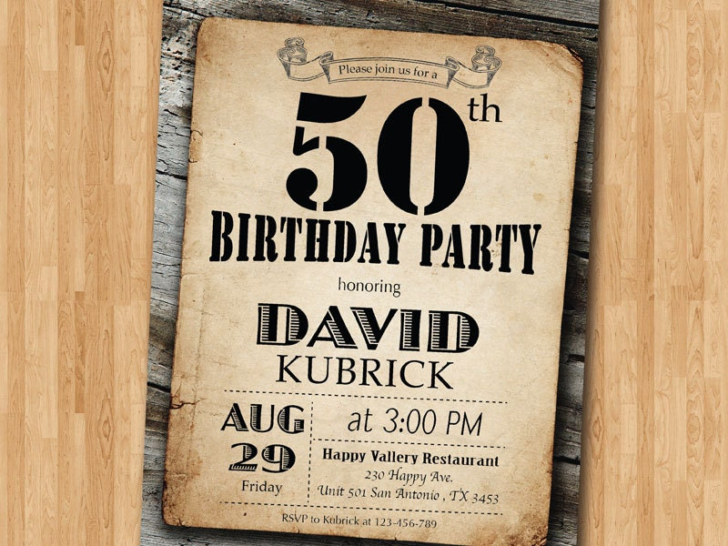 Nice 60th Birthday Invitations For Men Pictures Inspiration ...