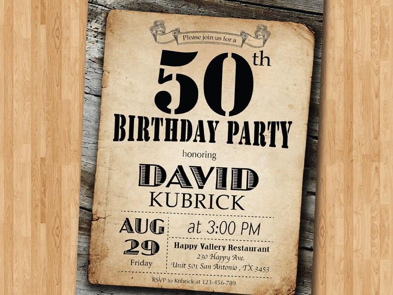 50th birthday invitation rustic invitation adult birthday zoom filmwisefo