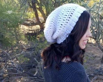 Slouchy Beanie Crochet PATTERN - Easy Beanie Crochet Pattern - Crochet Hat Pattern - Slouchy Hat Pattern - Easy Crochet Pattern - Beginner