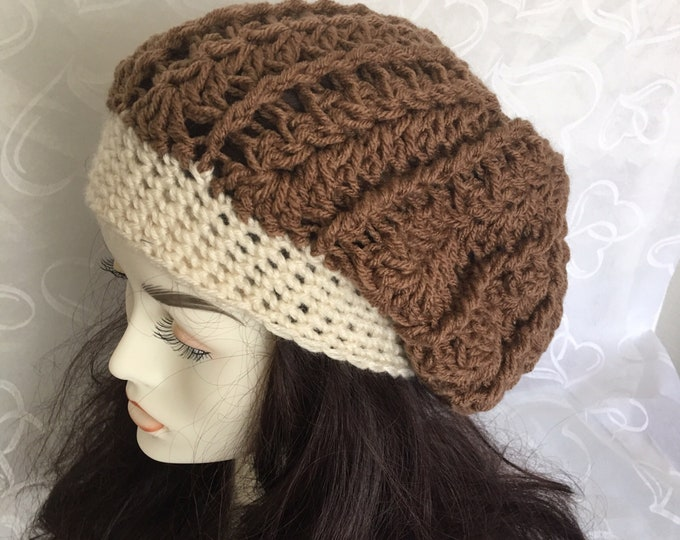 Slouchy Hat-Women's Warm Hats-Mens Brown Hats-Accessories -newsboy hats-Winter Hats