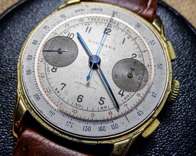 NORMANA Chronograph - Blued hands - Column wheel - 37mm