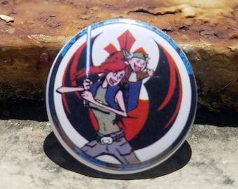 CWA Resist Rebel Luke and Yoda 1 inch Button