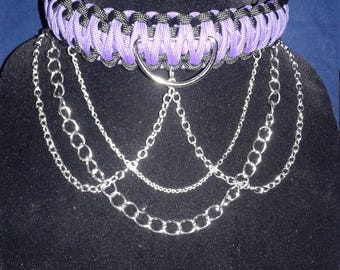 Paracord and chain Collar