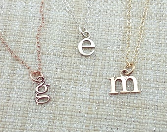 Mother Gift - Personalized  Tiny Initial Necklace - Gift - Custom Initial Jewelry -  Mom Gift - Silver Initial Necklace - Stocking Stuffer