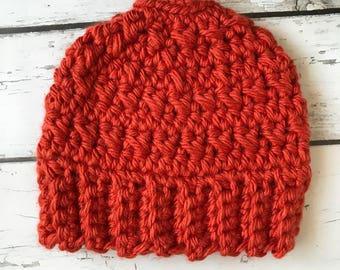Messy Bun Hat, Messy Bun Beanie, Crochet Bun Hat, Winter Hat, Ponytail Hat, Runner's Hat, Bulky Crochet Hat, Crochet Bun Hat