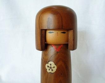 1745 Kokeshi doll,Nice Vintage Japanese wooden Sosaku Kokeshi doll ,ARTIST'S Work,marked, Creative Kokeshi doll,Handcrafted in Japan