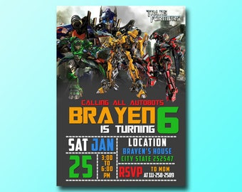 Transformers invite etsy transformers birthday invitationtransformers invitationtransformers birthdaytransformers partytransformers birthday party filmwisefo Images