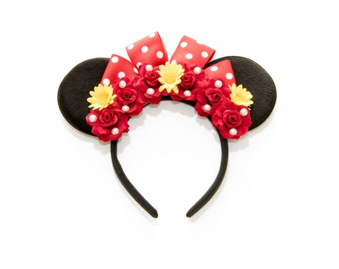 Red Minnie Ears Headband