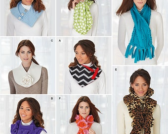 OUT of PRINT Simplicity Pattern 1235 Assorted Scarves