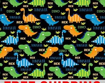 "Fleece Fabric Dinosaurs Anti Pill 60"" Wide Free Shipping Style 47640"