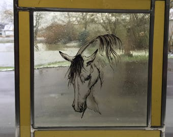 stained glass - horse #two