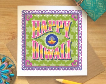 Diwali Card, Happy Diwali Card, Diwali Celebrations, Indian, Hindu Festival, Sikh Celebrations, Festival of Lights, Diwali Greetings, Ethnic