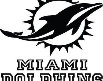 Miami Dolphins Decal Etsy