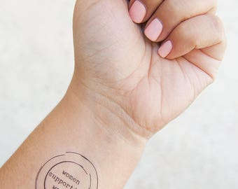 Women Supporting Women Tattoo - Temporary Tattoos - Feminist Tattoo - Venus Symbol Tattoo - Girl Power Gift - Gifts for Her - Feminist AF