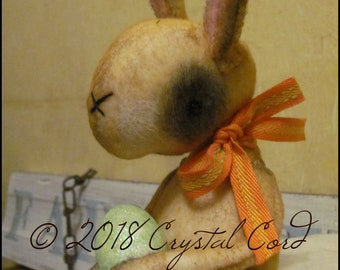 Easter Spring Rabbit bunny doll kitchen decor cottage chic farmhouse decor country Farm shabby Anthropomorphic primitive creepy cute Quirky