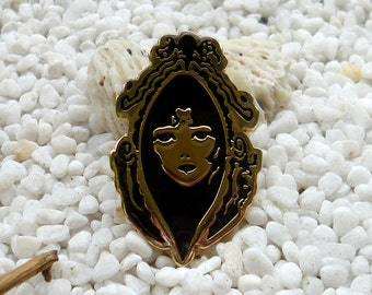 Mirror Mirror on the Wall : The Face  { i m a g i n a t i o n }  Soft Enamel Pin - Badge - Brooch - Lapel Pin - Hat Pin  - Backpack Bag Pin
