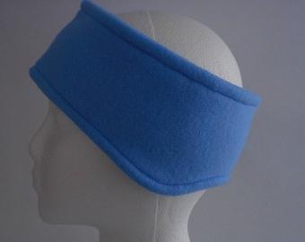 Medium Blue Fleece Ear Warmer / Earband