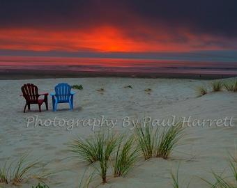 Photo Art - Fine Art Photography - Landscapes - Photography - Sunset Photography - Oregon Coast-   12 X 18  print