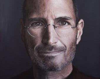 Portrait, portrait, painting, art, photo realism, photorealism, realism, realism, Apple
