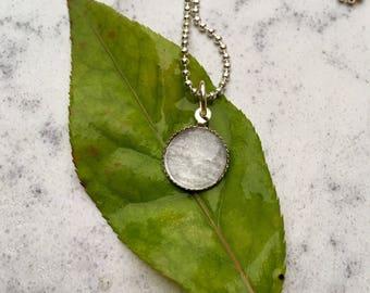 Grey watercolor pendant necklace