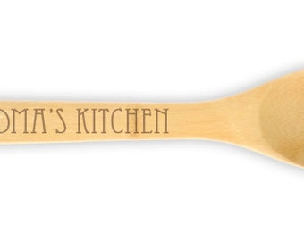 Engraved Wooden Spoon etched design 10535 Grandma's Kitchen