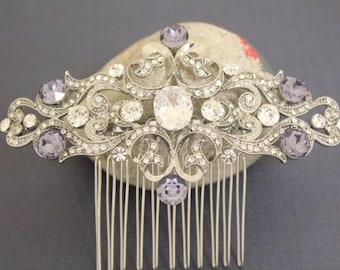 Bridal Hair Comb Vintage inspired,Crystal Bridal Hairpiece,Art Deco Bridal Hair Accessory,Bridal Hair Clip,wedding hair comb,Bridesmaid comb