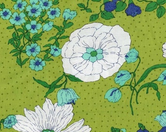 Color Me Happy Flower Garden in Lime Yardage - 10820 15 - V and Co - Moda
